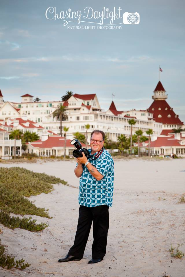 "Unkle Papa ""On location"" on Coronado Island at the historic Hotel Del Coronado 